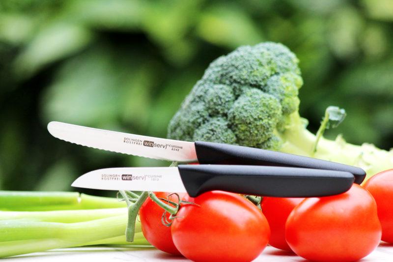 Brötchenmesser und Gemüsemesser aus Solingen im Set